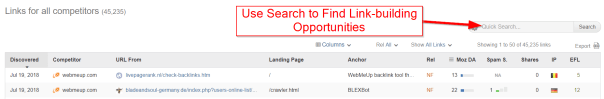 find link-building opportunities