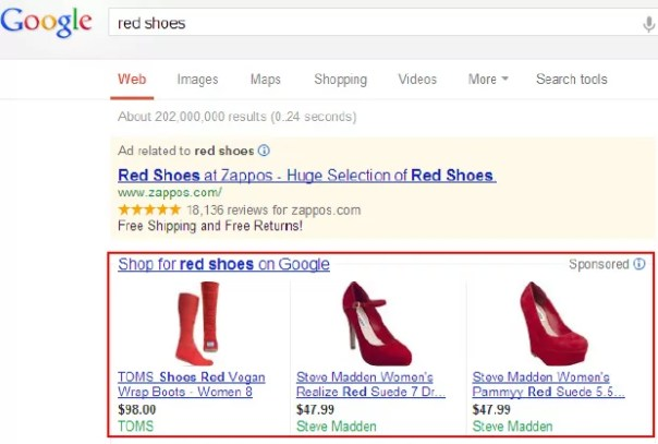 Google product listing ads