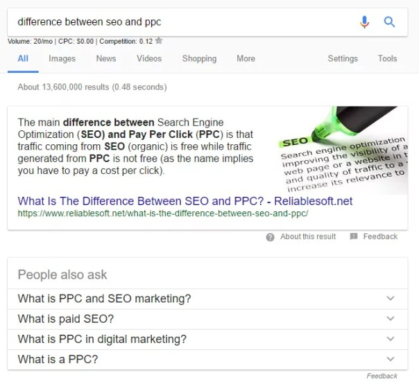 how to get google's featured snippet
