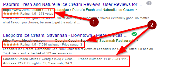 Image result for rich snippets