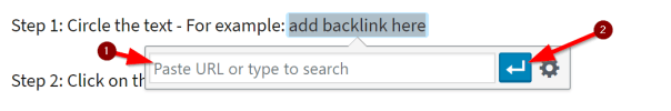 How to add backlink2