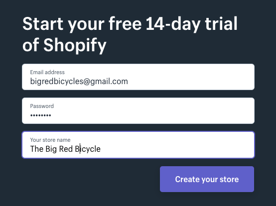 How to setup a shopify store - personal details