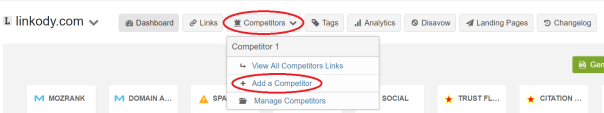 add a competitor and see his seo backlinks