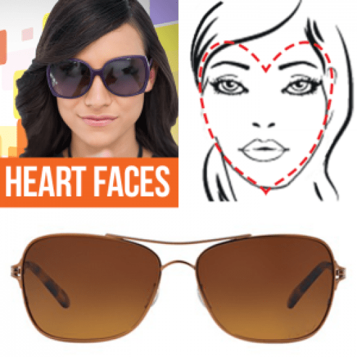 A Guide to the Perfect Pair of Sunglasses for Any Face Shape - Heart Faces
