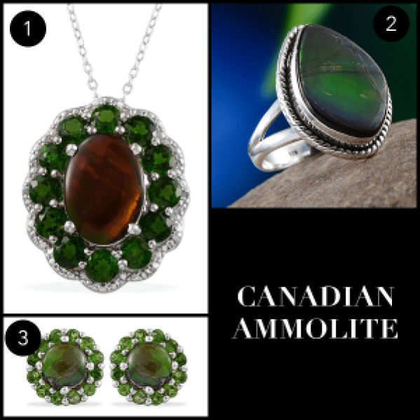 Rare and Exotic Gemstones - Canadian Ammolite Selection
