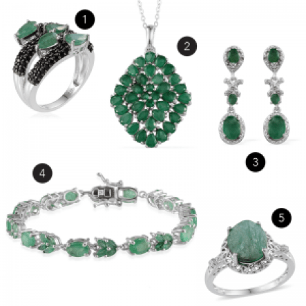 May birthstone jewelry gifts.