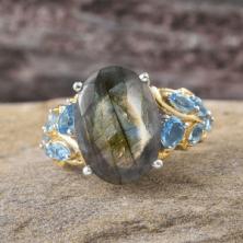 Rare and Exotic Gemstones - Malagasy Labradorite Ring 2