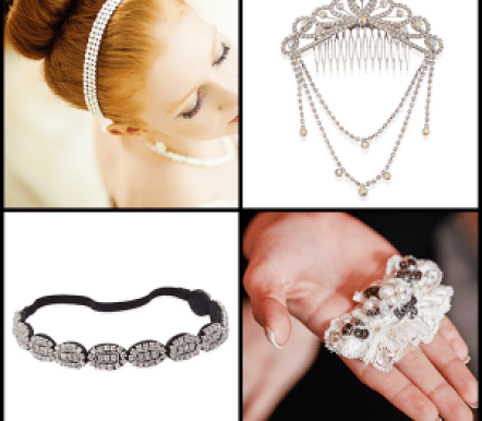 Trendspotter - Nontraditional Bridal Trends - Hair Accessories Collage