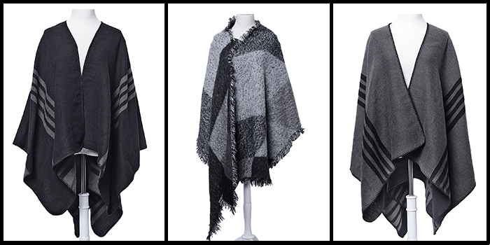 Trendspotter - winter ponchos - sweater wraps