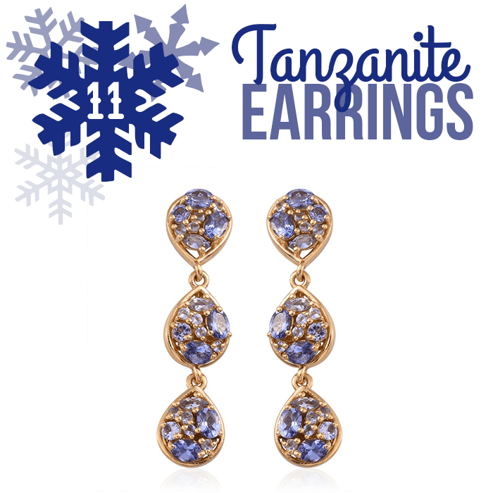 12 Days of Tanzanite - 11 - Tanzanite Earrings