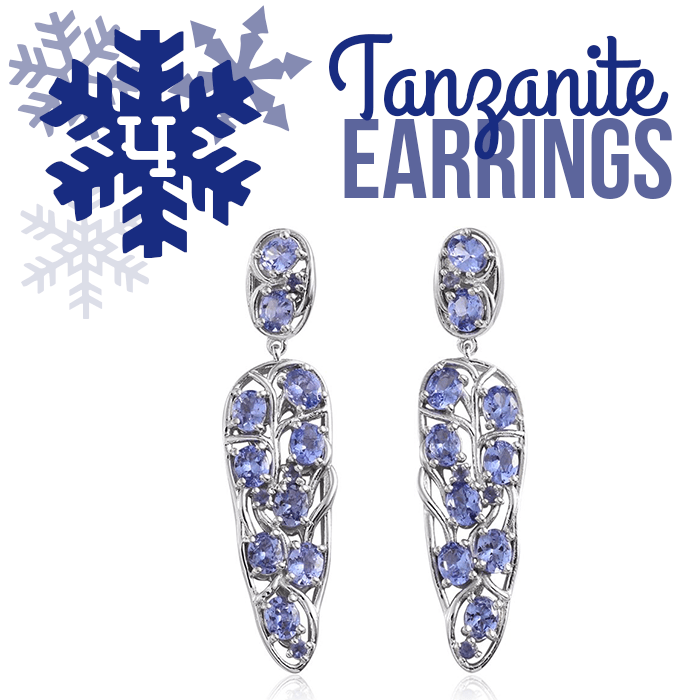 12 Days of Tanzanite - 4 - Tanzanite Earrings