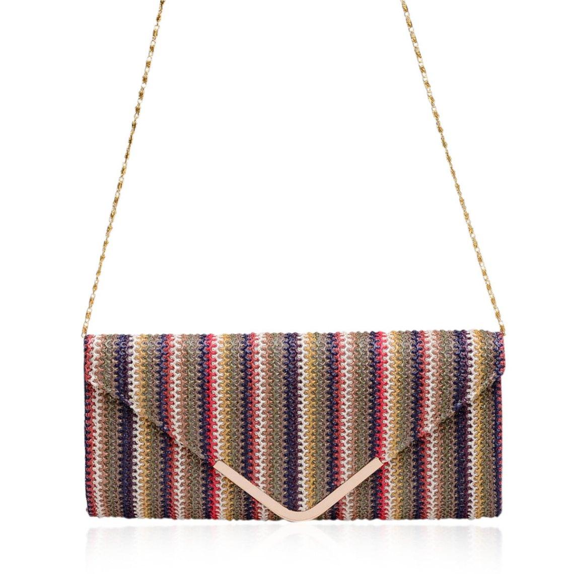 Multi Color Clutch Handbag