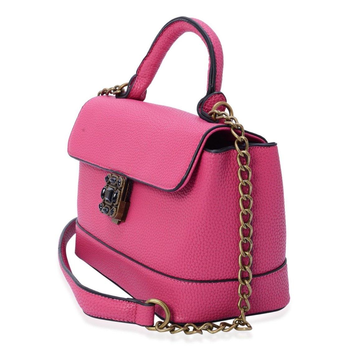J Francis - Fuchsia Faux Leather Handbag