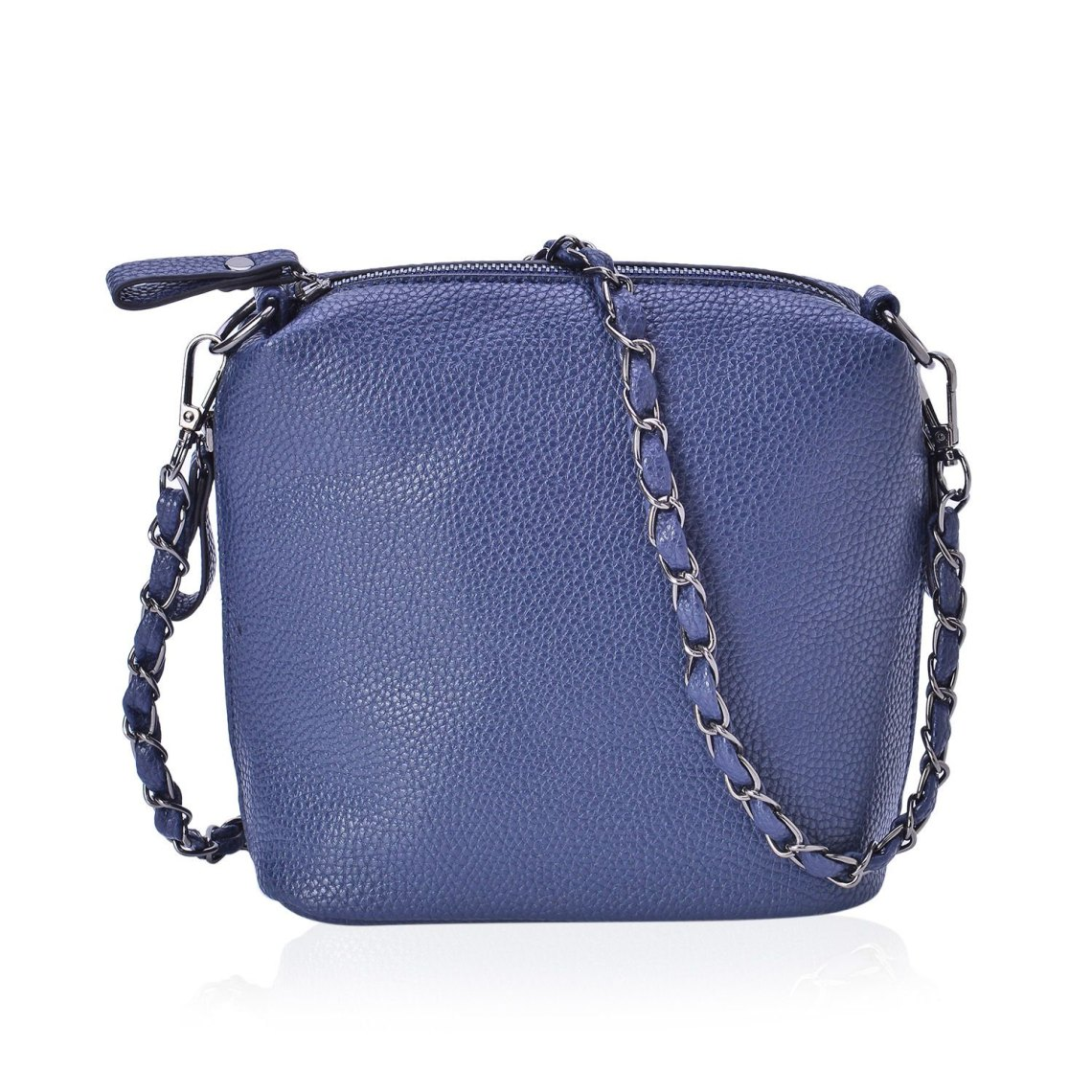 J Francis - Blue Faux Leather Crossbody Bag