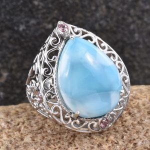 Larimar Teardrop Ring