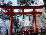 箱根神社への湖からの入口