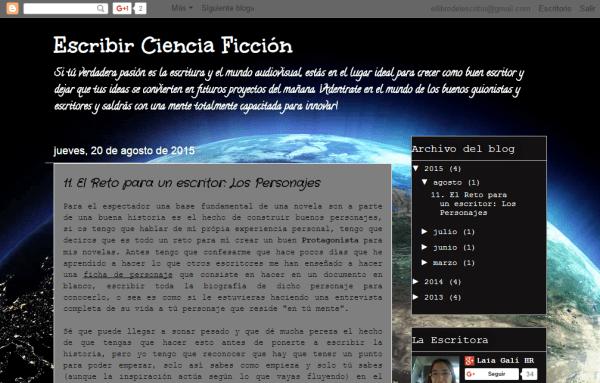 Blogs literarios: Escribir ciencia ficción