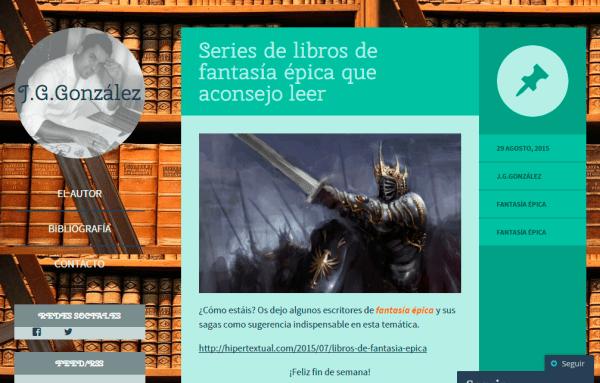 Blogs literarios: J. G. González