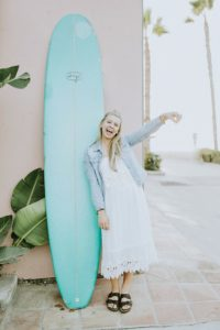 Saltin' It with this surf board a neighbor let us borrow while we were out shooting!