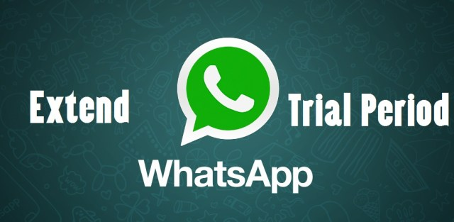 how to extent whatsapp trial peroid