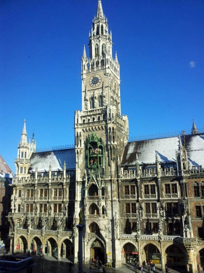 Blick auf den Marienplatz München