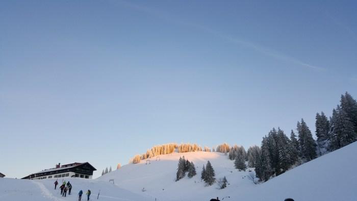 Gasthof Falkenhütte in Sicht