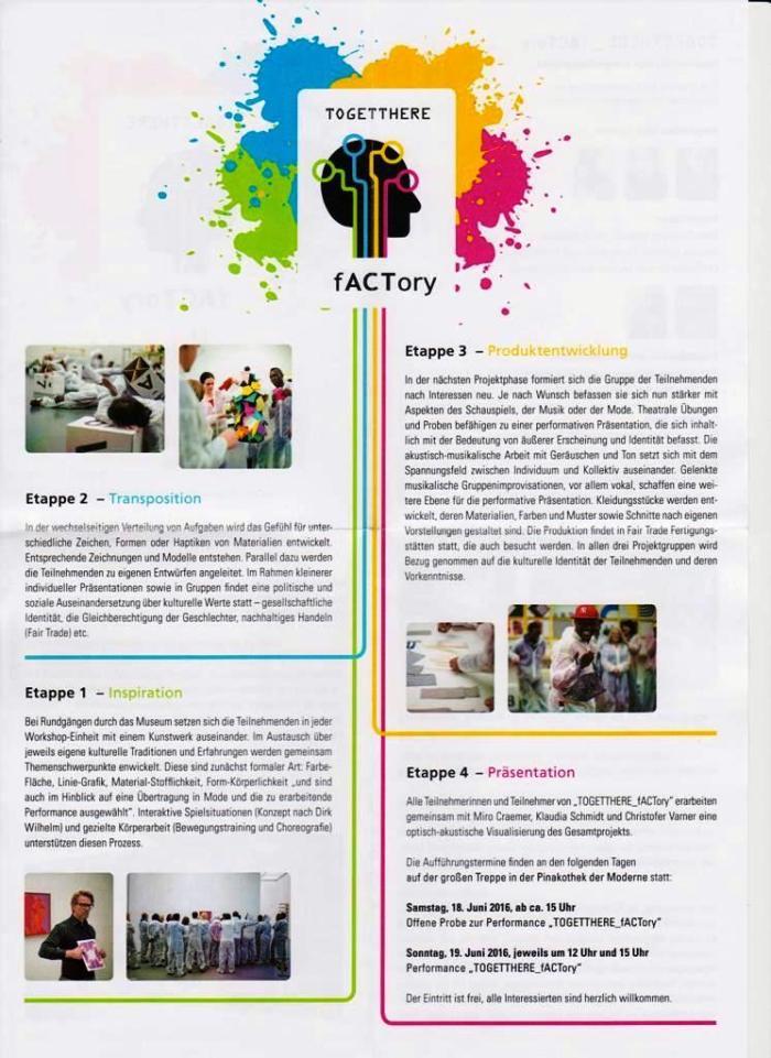 TOGETTHERE_fACTory ein Projekt der Pinakothek der Moderne