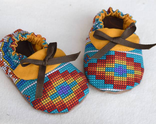 Baby mocassin sewing pattern