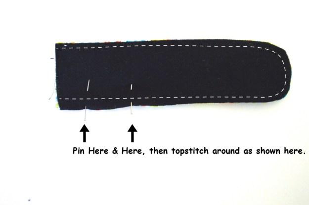 sew topstitch strap