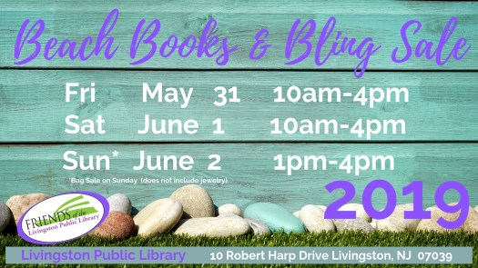 Friends Beach Books & Bling Sale 2019