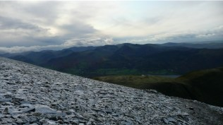 the icey walk up to the peak of skiddaw