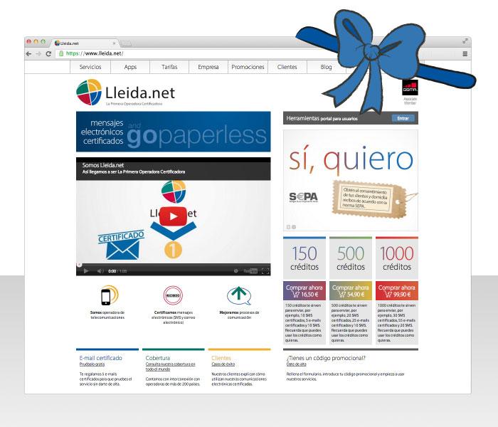 Captura de pantalla de la nueva home Lleida.net
