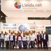 Equipo de Lleida.net en el stand. Mobile World Congress 2014