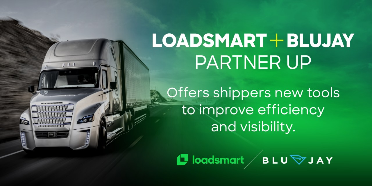 BluJay and Loadsmart Announce Strategic Partnership Enabling Access to Instantly Bookable Rates and Capacity for TMS Users