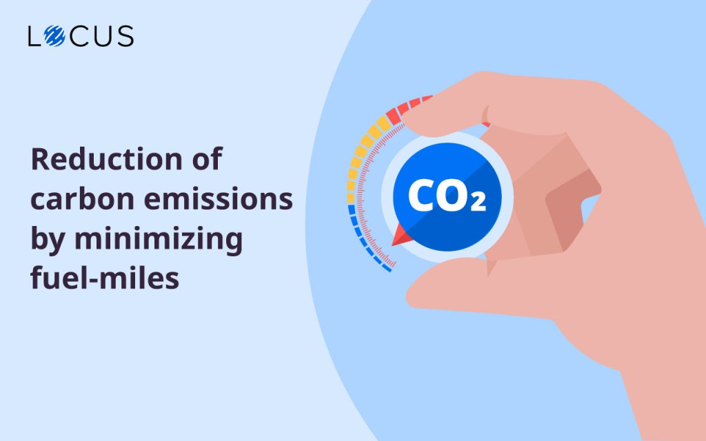 Reduction of carbon emissions by minimizing fuel-miles