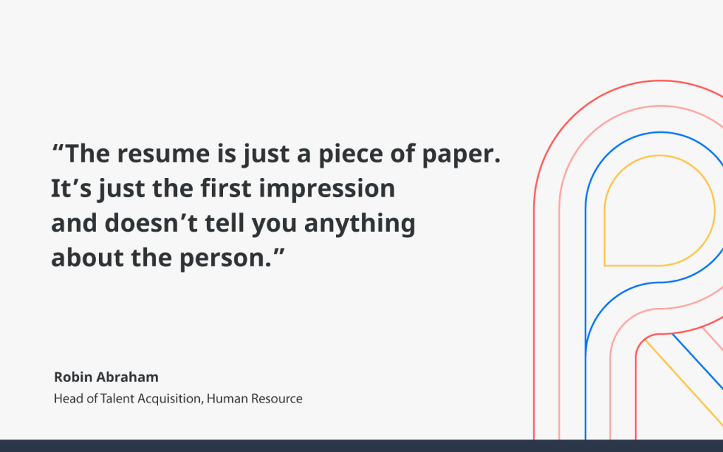 The resume is just a piece of paper