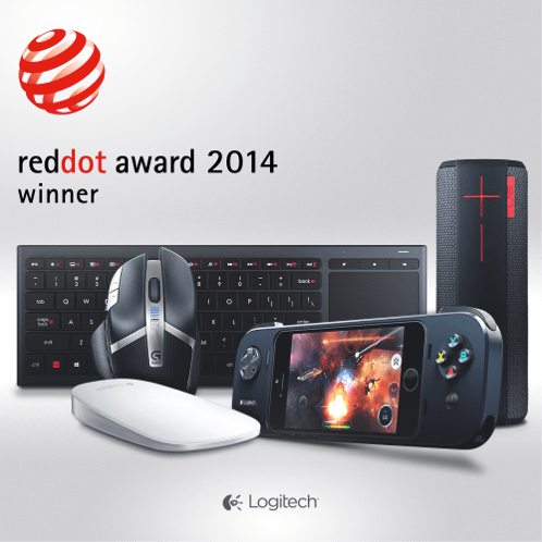 Five Logitech Products Honored in 2014 Red Dot Design