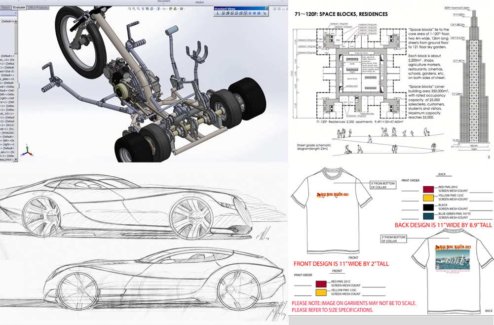 proofing examples car tshirt