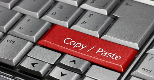 how to copy paste
