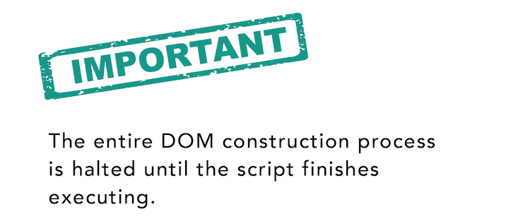 The DOM Construction Is Halted Until Scripts Finish Executing