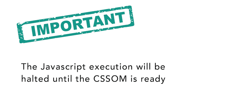 JavaScript Execution Will Be Halted Until The CSSOM Is Ready
