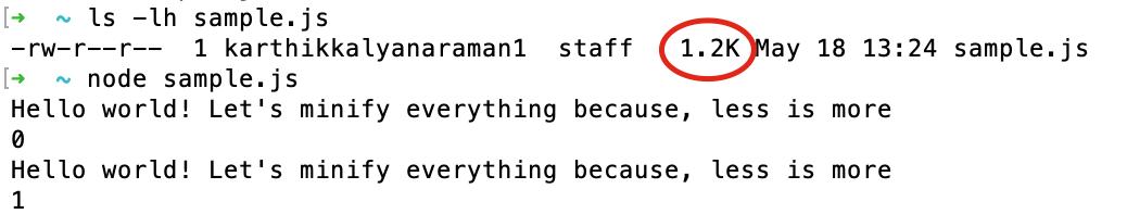 Sample.js File Size