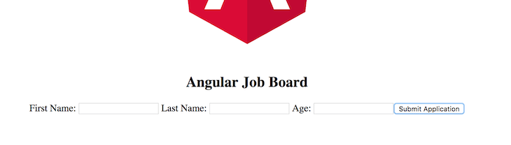 Angular Job Board Form