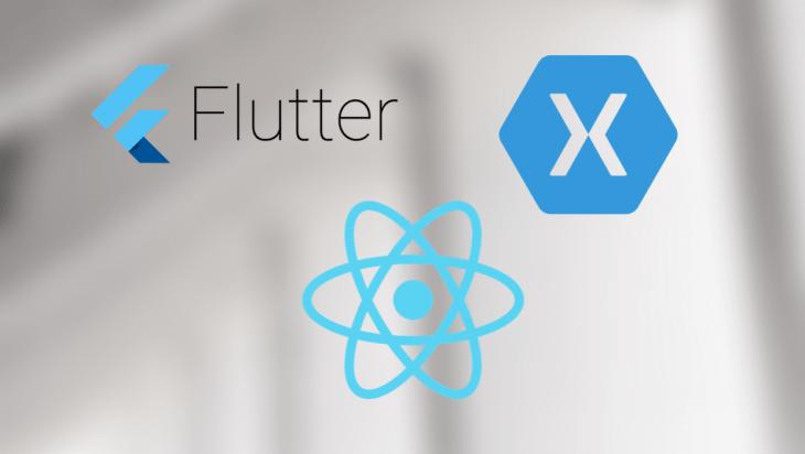 A comparison between Flutter, React, and Xamarin