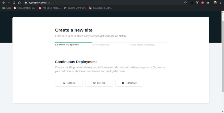 Create a New Site Feature in Netlify