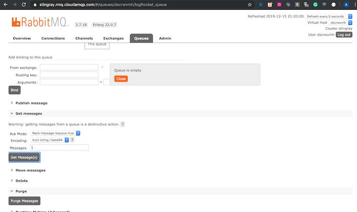 RabbitMQ Management Interface