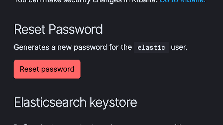 Elastic User And Password Fields