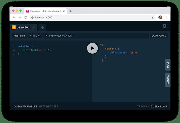 Removing a Book in GraphQL