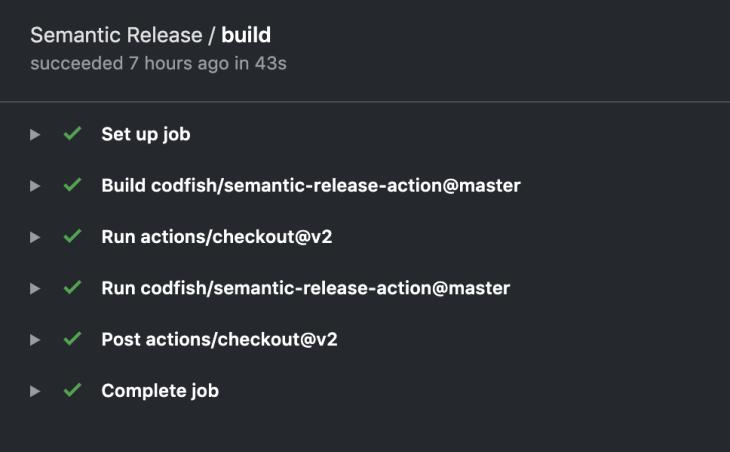 semantic release build