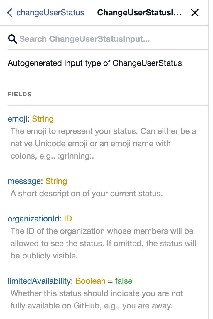 changeUserStatus Mutation Documentation